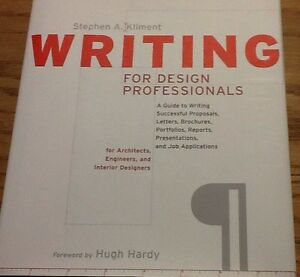 Writing-For-Design-Professionals-Kliment-Hc-Dj-1998-Free-Shipping-Like-New