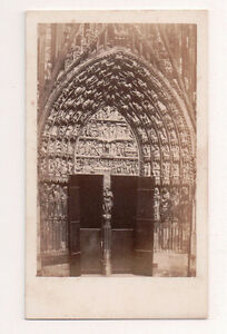 Vintage-CDV-Strasbourg-Cathedral-strasbourg-Alsace-France-Edouard-Fietta-Photo