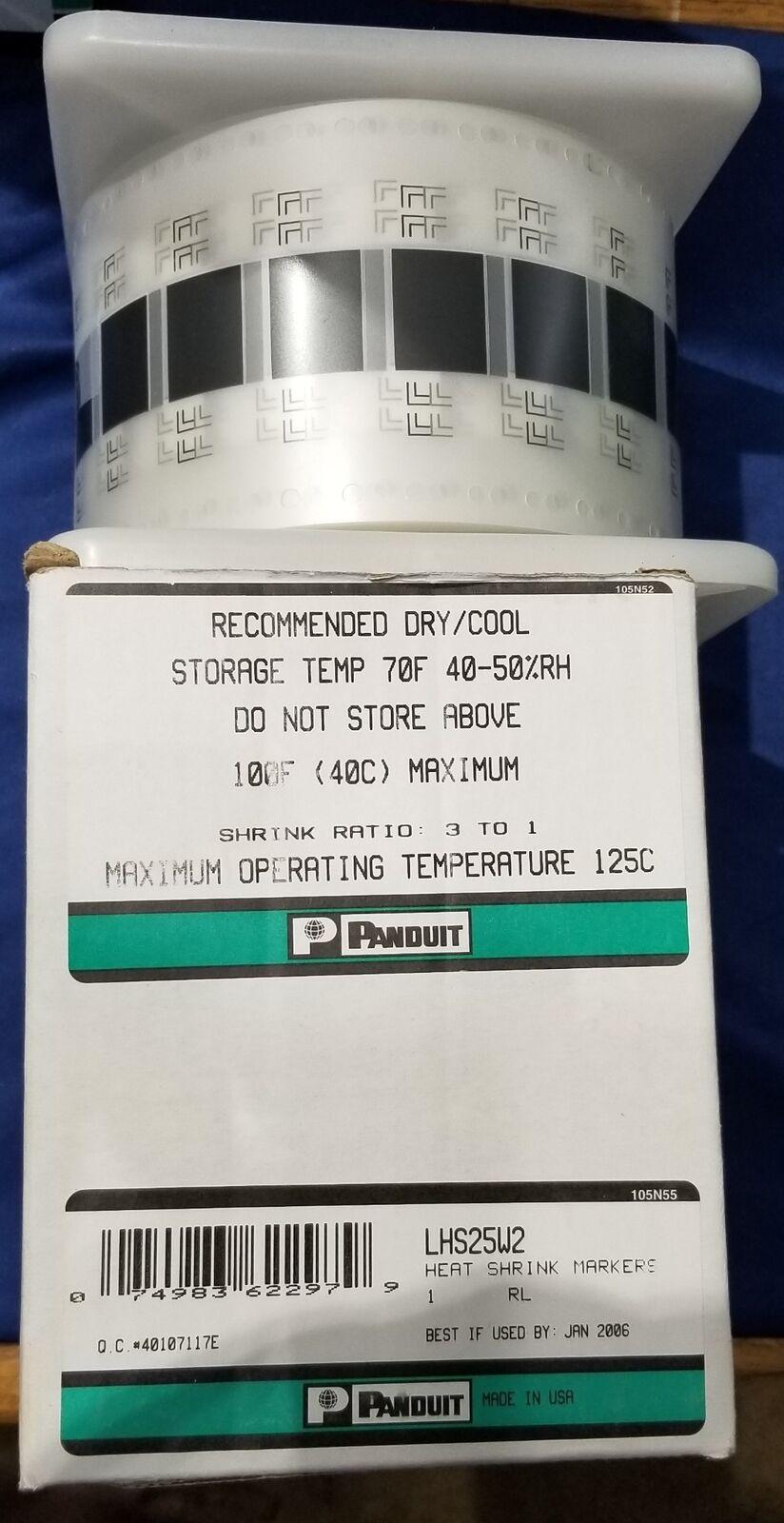 PAN005 NOS Panduit Heat Shrink Markers Roll LHS25W2