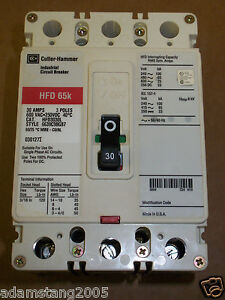 EATON CUTLER HAMMER HFD3030 3 Pole 30 Amp HFD Breaker