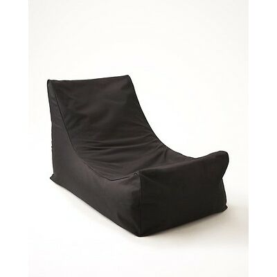 Chillizone Lounger Bean Bag Black 250 litres Outdoor/ Indoor use