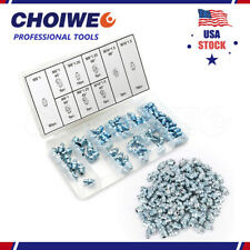 110 Pieces Metric Hydraulic Grease Fitting Assortment Standard Degree Zerks