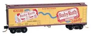 Baby-Ruth-1-Nestle-40-039-Wood-Reefer-Box-Car-Micro-Trains-MTL-049-00-710-N-Scale