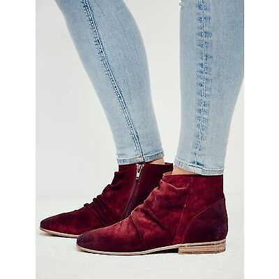 NIB Free People Jeffrey Campbell Wine Suede Speir Ankle Boots-MSRP $198-Size 8.5