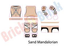 Lego Star Wars Custom Mandalorian Water Slide Decal - New Sand Mandalorian