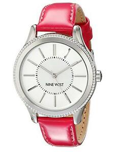 Nine West Women039s Quartz Watch with Pink PU Strap - <span itemprop=availableAtOrFrom>Blackheath, SE3, United Kingdom</span> - Nine West Women039s Quartz Watch with Pink PU Strap - Blackheath, SE3, United Kingdom