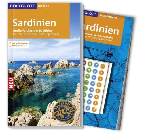 1 von 1 - POLYGLOTT on tour Reiseführer SARDINIEN - mit großer Faltkarte - NEU