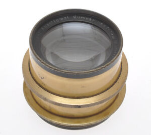 Rodenstock-old-brass-lens-300mm-F-6-8-Eurynar-with-iris-diaphragm-c-1925