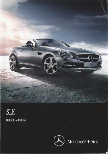 MERCEDES SLK-CLASSE 172 manuale di istruzioni 2013 MANUALE MANUALE BA