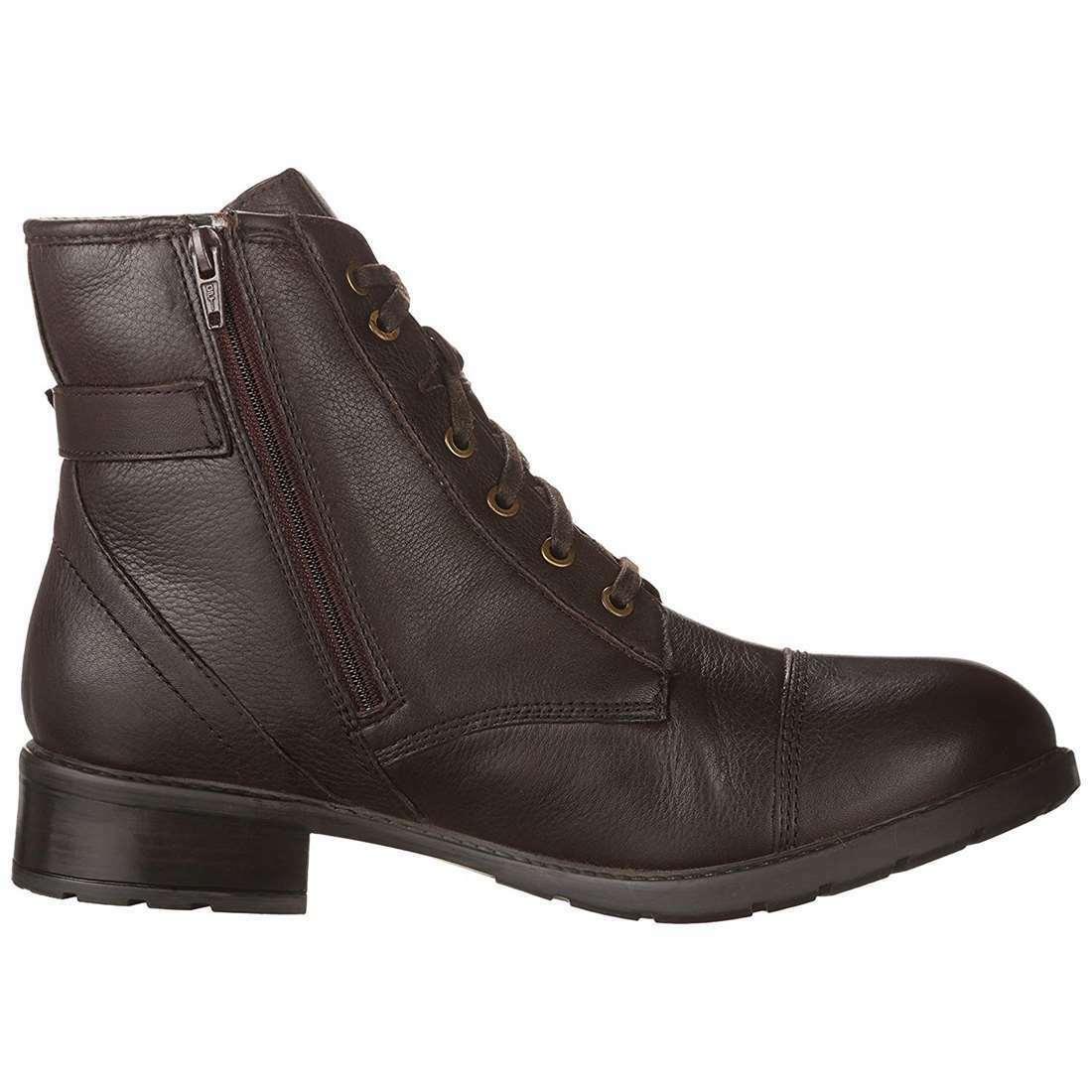 Clarks Mujer Swansea cornisa Cuero Anke Anke Anke Alta Con Cordones Cremallera Lateral botas De Invierno 32b7ed