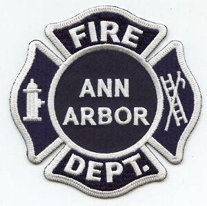 Ann Arbor Michigan Mi Fire Patch Ebay