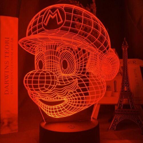 Fernbedienung SUPER MARIO LED Acryl 3D Panel 16 Farben USB Micro inkl