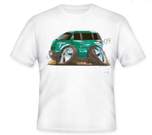 GREEN S TO XXXL VW MICRO BUS KOOLART HEAVYWEIGHT TSHIRT