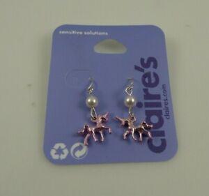 pink Unicorn dangle Claire's  Earrings earring Jewelry pierced