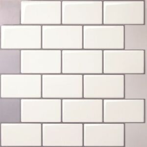 Tic Tac Tiles 3d Peel And Stick Wall Tile In Mono White 5 Sheets