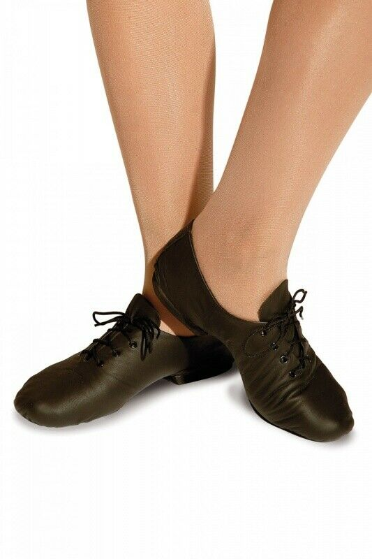 ROCH VALLE LACE UP SPLIT SOLE JAZZ DANCING SHOES FREE POSTAGE BLACK