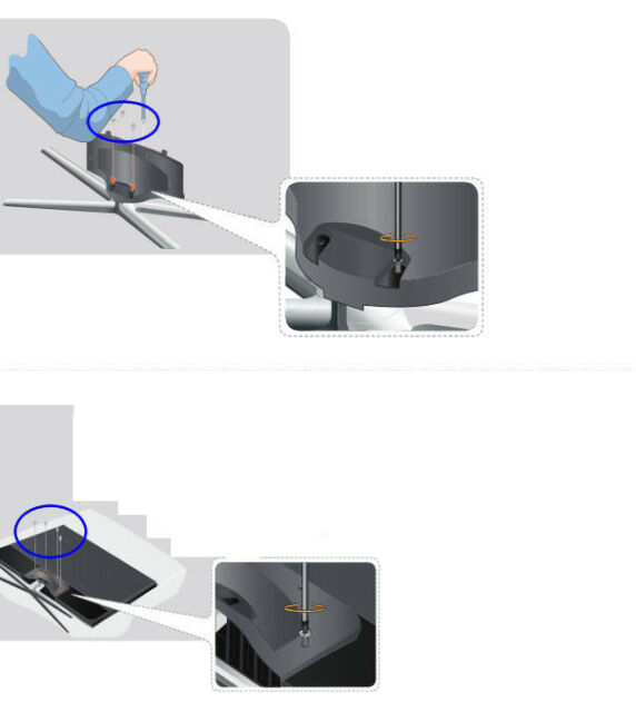 NEW Samsung UN55D7000SF LCD TV Stand Screws Set of EIGHT 8