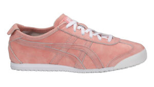 hot sale online 41bc5 4e34a Details about Onitsuka Tiger Mexico 66 Trainers Coral Cloud Pink Asics  Leather