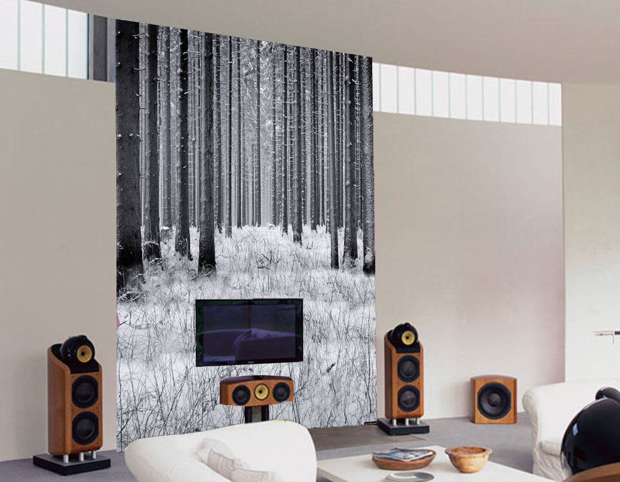3D Schnee Pflanzenhölzer 85 Tapete Wandgemälde Tapete Tapeten Bild Familie DE