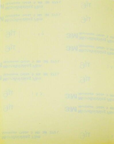 "3M Imperial Microfinishing 8-1//2/"" x 11/"" Film 9µ 1200 Grit Polishing Papers 5 Pcs"