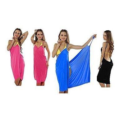 Herzhaft Trendiges Strandkleid Wickeltuch Pareo Sarong Sommerkleid Kleid (pink) #1126 Profitieren Sie Klein