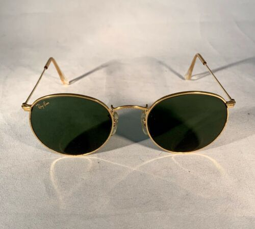 1980's B&L Ray Ban Arista-Gold Round Wire Frame-Gr