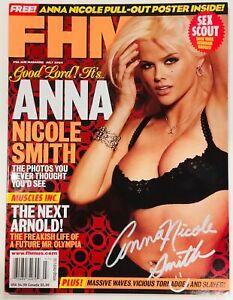 Anna Nicole Smith Signed FHM Magazine Cover Full Magazine 2004 PMOY Autograph