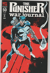 The-Punisher-War-Journal-50-VF-Jan-1993-Marvel-Embossed-Cover
