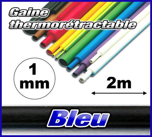GB1-2# gaine thermorétractable bleu 1mm 2m ratio 2//1 gaine thermo bleu