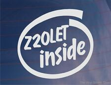 Z20LET INSIDE Novelty Vinyl Car/Window/Bumper Sticker - Ideal for Vauxhall/Opel