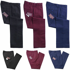 Relco-Sta-Press-Trousers-Blue-Burgundy-Black-Mod-Skin-Retro-Stay-Pressed-Mens