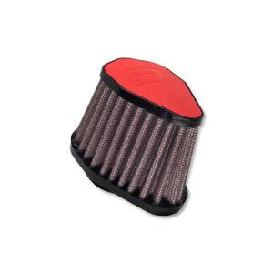 DNA-Red-Leather-Top-Hexagonal-Air-Filter-Inl-38mm-Len-86mm-PN-V-3800-L-R