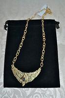 $298 Melinda Maria 14k Gp catalina Cz Crystal Statement Bib Necklace
