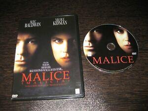 Malice DVD Alec Baldwin Nicole Kidman - Bill Pullman
