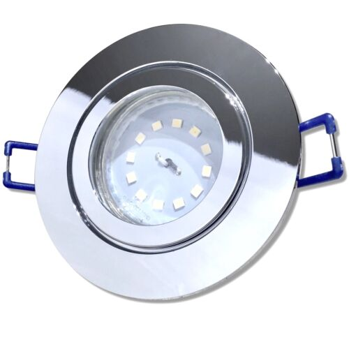 ChromTageslichtweissStep Dimmbar5W LED Bad Einbaustrahler 230VIP44