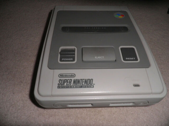 official super nintendo snes console unit only -  tested & working - vgc