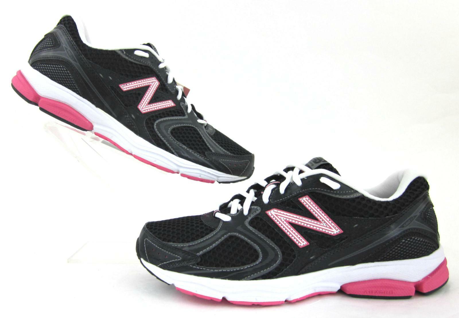 NEUF   New Balance Femme 580v2 Chaussures De Course Noir Rose-Largeur 11D