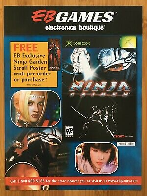 Ninja Gaiden Xbox Original 2004 Vintage Poster Ad Art Print Eb