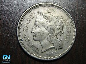 1866 3 Cent Nickel Piece    BETTER GRADE!  NICE TYPE COIN!  #B6638