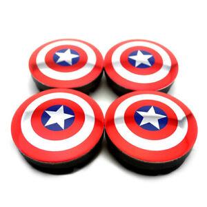 4x-56mm-Captain-America-Nabendeckel-Felgendeckel-5JA601151A-fuer-Skoda