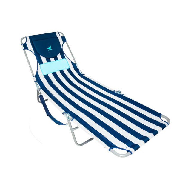 Brilliant Ostrich Lcl 1006S Lcl Ladies Comfort Lounger Striped Blue And White Caraccident5 Cool Chair Designs And Ideas Caraccident5Info