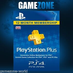 playstation plus psn 365 days uk card ps store 12 month code sony 1 year key ebay. Black Bedroom Furniture Sets. Home Design Ideas