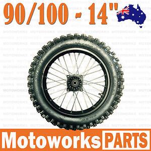 90 100 14 Inch Tire Rim Rear Back Wheel Bigfoot Dirt Pit Trail