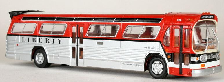 CORGI CLASSICS FISHBOWL Bus Liberty Lines 54507 w  ID Card & Mirrors NYC Bus NIB