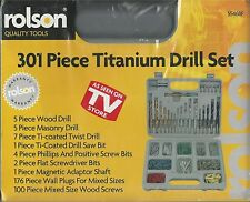 rolson 301 PIECE TITANIUM DRILL SET, New