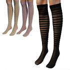 2 Pack: Steve Madden Ladies Over The Knee Ruffle Socks - Size 9-11