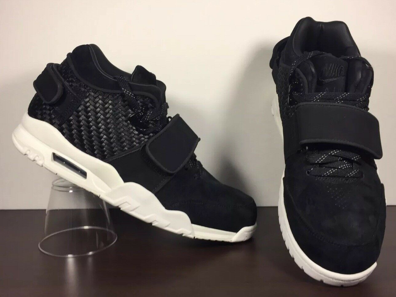 Nike Air Victor Cruz Trainer Black White Suede shoes Men's Size 10.5  777535-004