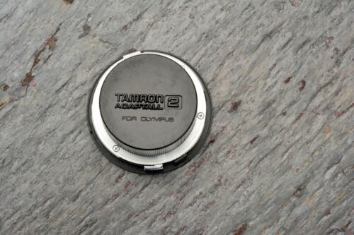 Excellent Tamron Adaptall Lens Adapter for Olympus OM Camera Mount Caps #3711