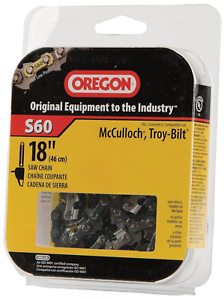 Oregon S60 advancecut 18 pouces Semi Chisel Tronçonneuse Chaîne Correspond McCulloch,