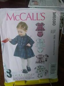 Oop-Mccalls-Laura-Ashley-6590-baby-dresses-panties-shoes-sz-nb-29-lbs-NEW